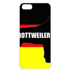Rottweiler Name Silo On Flag Apple iPhone 5 Seamless Case (White)
