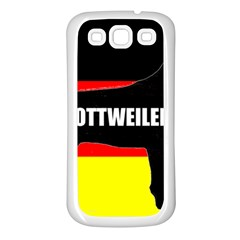 Rottweiler Name Silo On Flag Samsung Galaxy S3 Back Case (White)