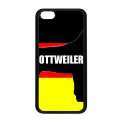 Rottweiler Name Silo On Flag Apple iPhone 5C Seamless Case (Black)