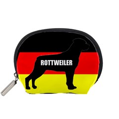 Rottweiler Name Silo On Flag Accessory Pouches (Small)