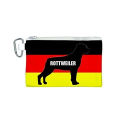 Rottweiler Name Silo On Flag Canvas Cosmetic Bag (S)