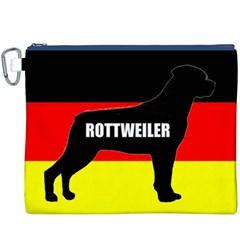 Rottweiler Name Silo On Flag Canvas Cosmetic Bag (XXXL)