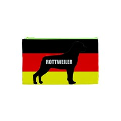 Rottweiler Name Silo On Flag Cosmetic Bag (XS)