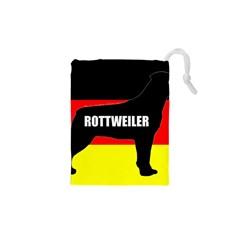 Rottweiler Name Silo On Flag Drawstring Pouches (XS)