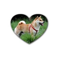 Shiba 2 Full Heart Coaster (4 pack)