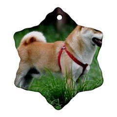 Shiba 2 Full Snowflake Ornament (Two Sides)