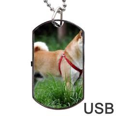 Shiba 2 Full Dog Tag USB Flash (One Side)