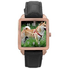 Shiba 2 Full Rose Gold Leather Watch
