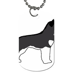 Siberian Husky Silo Color Dog Tag (One Side)