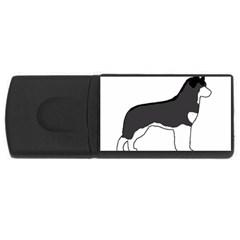 Siberian Husky Silo Color USB Flash Drive Rectangular (2 GB)
