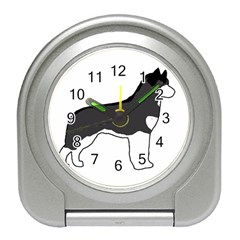 Siberian Husky Silo Color Travel Alarm Clocks