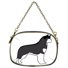 Siberian Husky Silo Color Chain Purses (Two Sides)