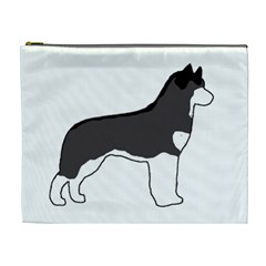 Siberian Husky Silo Color Cosmetic Bag (XL)