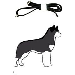 Siberian Husky Silo Color Shoulder Sling Bags