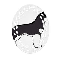 Siberian Husky Silo Color Ornament (Oval Filigree)