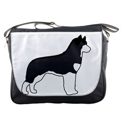 Siberian Husky Silo Color Messenger Bags