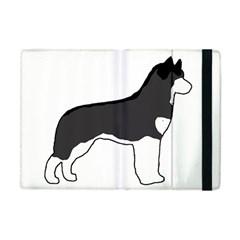 Siberian Husky Silo Color Apple iPad Mini Flip Case
