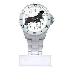 Siberian Husky Silo Color Plastic Nurses Watch