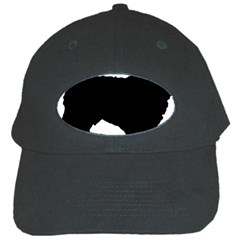 Spanish Water Dog Silhouette Black Cap
