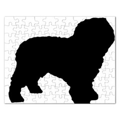 Spanish Water Dog Silhouette Rectangular Jigsaw Puzzl