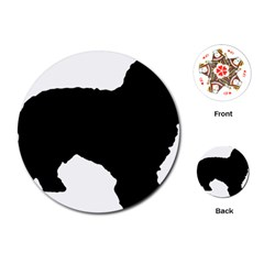Spanish Water Dog Silhouette Playing Cards (Round)