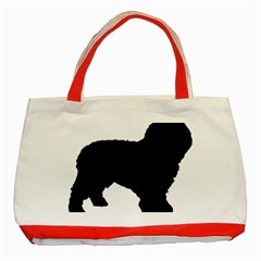Spanish Water Dog Silhouette Classic Tote Bag (Red)