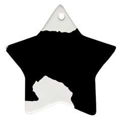 Spanish Water Dog Silhouette Star Ornament (Two Sides)