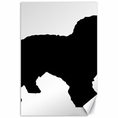 Spanish Water Dog Silhouette Canvas 24  x 36