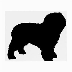 Spanish Water Dog Silhouette Small Glasses Cloth (2-Side)
