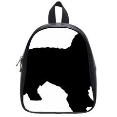 Spanish Water Dog Silhouette School Bags (Small)