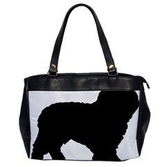 Spanish Water Dog Silhouette Office Handbags