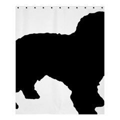 Spanish Water Dog Silhouette Shower Curtain 60  x 72  (Medium)
