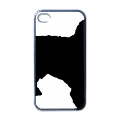 Spanish Water Dog Silhouette Apple iPhone 4 Case (Black)