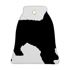 Spanish Water Dog Silhouette Bell Ornament (Two Sides)