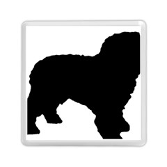 Spanish Water Dog Silhouette Memory Card Reader (Square)