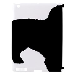 Spanish Water Dog Silhouette Apple iPad 3/4 Hardshell Case (Compatible with Smart Cover)