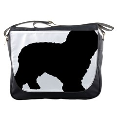 Spanish Water Dog Silhouette Messenger Bags
