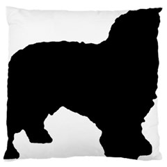 Spanish Water Dog Silhouette Large Cushion Case (Two Sides)