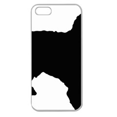 Spanish Water Dog Silhouette Apple Seamless iPhone 5 Case (Clear)