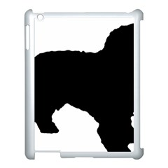 Spanish Water Dog Silhouette Apple iPad 3/4 Case (White)