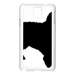 Spanish Water Dog Silhouette Samsung Galaxy Note 3 N9005 Case (White)