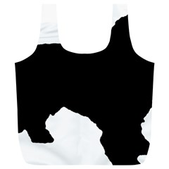 Spanish Water Dog Silhouette Full Print Recycle Bags (L)