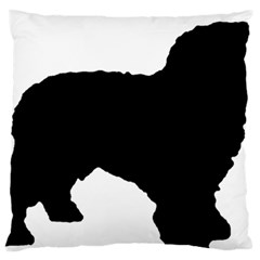 Spanish Water Dog Silhouette Large Flano Cushion Case (Two Sides)