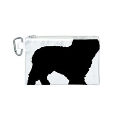 Spanish Water Dog Silhouette Canvas Cosmetic Bag (S)