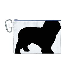 Spanish Water Dog Silhouette Canvas Cosmetic Bag (M)