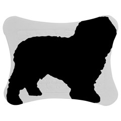 Spanish Water Dog Silhouette Jigsaw Puzzle Photo Stand (Bow)