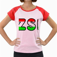 Hungary Flag In Vizsla Name Women s Cap Sleeve T-Shirt
