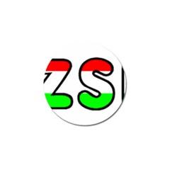 Hungary Flag In Vizsla Name Golf Ball Marker