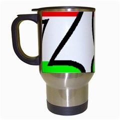 Hungary Flag In Vizsla Name Travel Mugs (White)