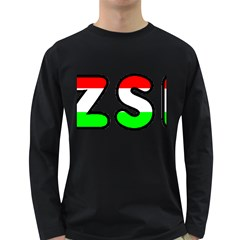 Hungary Flag In Vizsla Name Long Sleeve Dark T-Shirts
